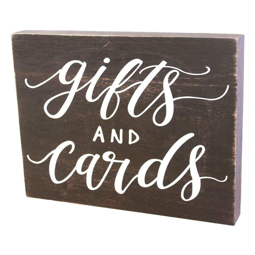 JennyGems Rustic Distressed Wood Sign For Gifts And Cards - Weddings, Parties, Special Events