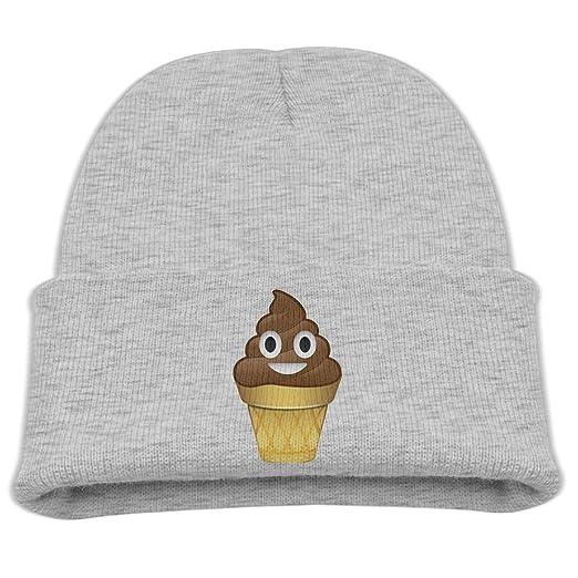 Amazoncom Obachi Cute Poop Emoji Ice Cream Unisex Beanie Cap Ash