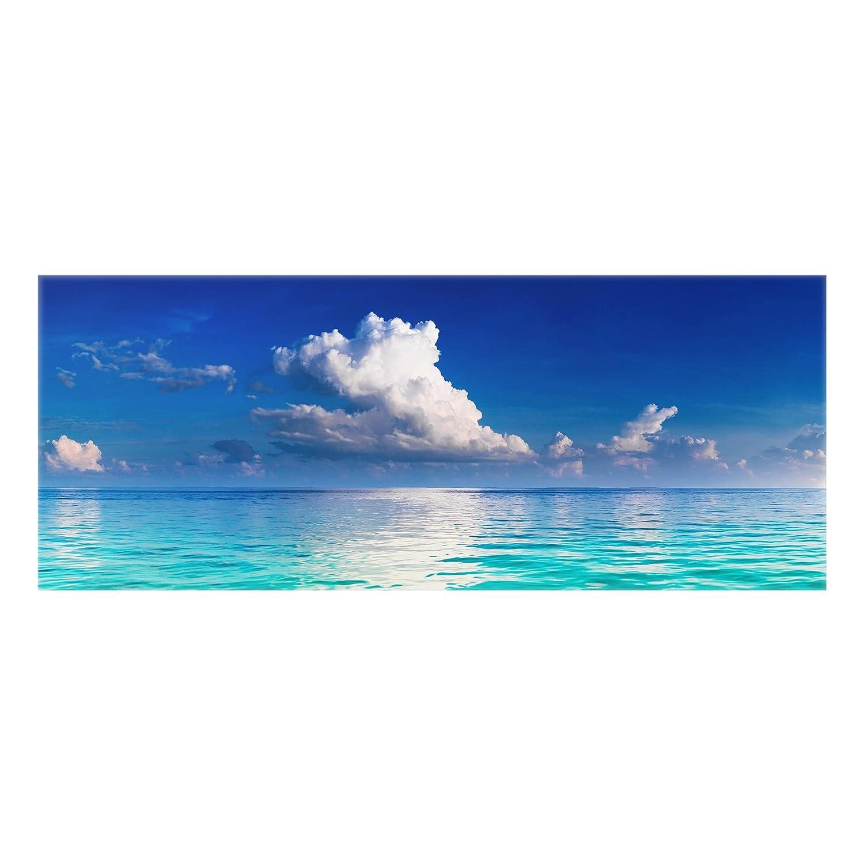 Bilderwelten Crédence en verre - Turquoise Lagoon - Panorama, peinture murale revetement mural cuisine dosseret de cuisine impression sur verre fond de cuisine, Dimension: 50cm x 125cm PPS. Imaging GmbH