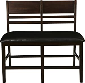 New Classic Furniture Latitudes Counter Bench, Dining, Chestnut