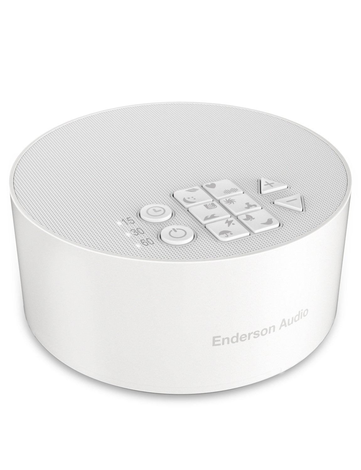 Portable White Noise Machine with 12 Non-Looping Soothing Sounds, Enderson Audio Rechargeable Sleep Sound Machine with Memory Function, 15 Levels of Volume, 3 Timer Settings & 30 Hours Runtime by Enderson Audio (Image #1)