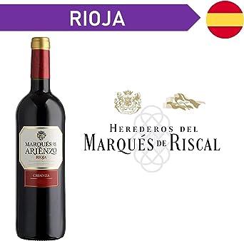 Arienzo de Marques de Riscal - Vino, 750 ml, pack de 6 unidades: Amazon.es: Alimentación y bebidas