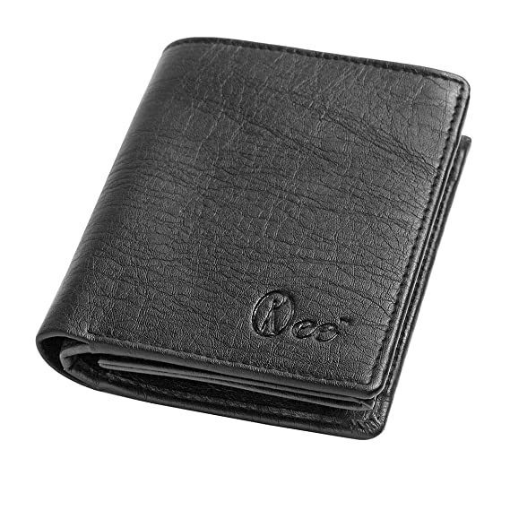 Orkee Artificial Leather RFID Protected Black Men's Wallet Wallets