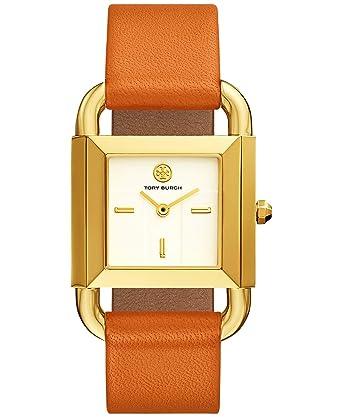 49d534777464 Amazon.com  Tory Burch TBW7201 Phipps Liliam Orange Leather Strap Gold Case  Women s Watch  Watches