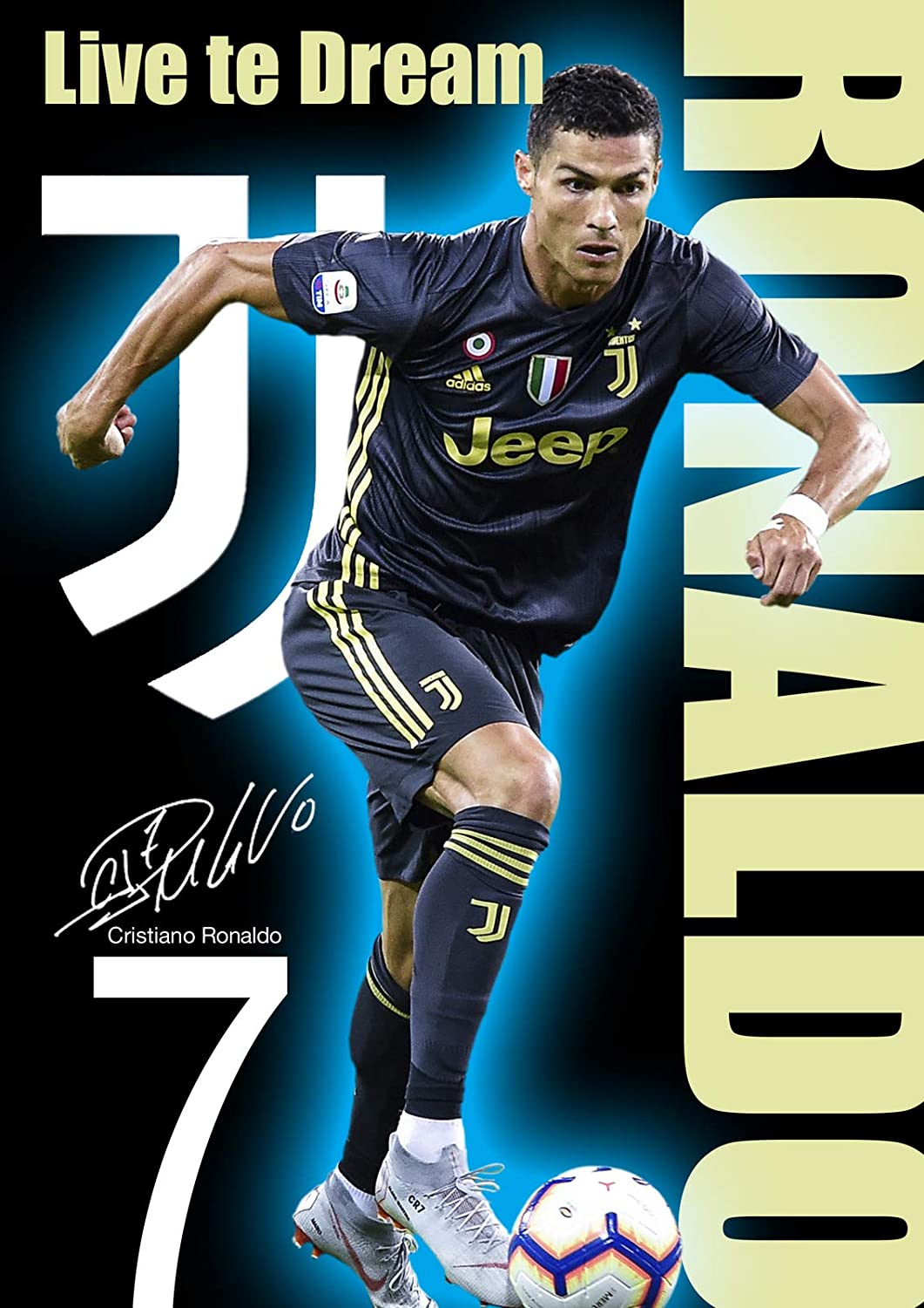 083b2afee Ronaldo Juventus Poster Motivational  10 Signed (Copy) - 2018 A3  Poster Wall Art Print A3-420mm x 297mm