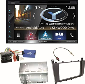 Kenwood DNX-5180DABS - Navegador GPS con Bluetooth DAB+, radio digital Android para coche, smartphone, CarPlay, USB,
