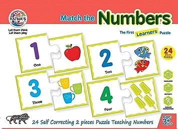 Ratnas Educational Jigsaw Puzzle Range for Kids (Number)