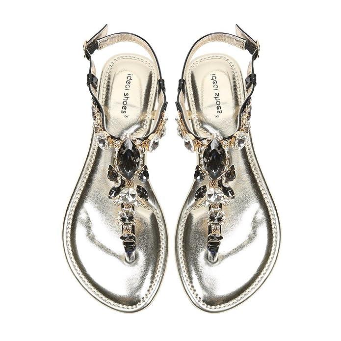 Chaîne Plates De Shoes Sandales Avec Incrustée Ideal En Maille tCoQdxshrB