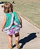 RuffleButts Baby/Toddler Girls Floral Swing Top