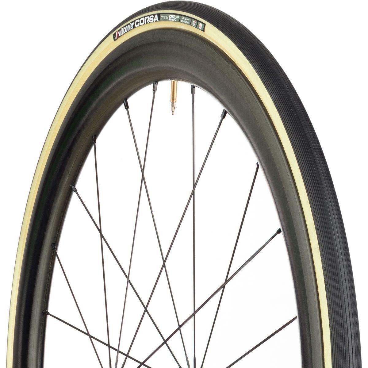 Vittoria Corsa G+ Graphene Road Tire, Skinwall/Black, 700x25mm