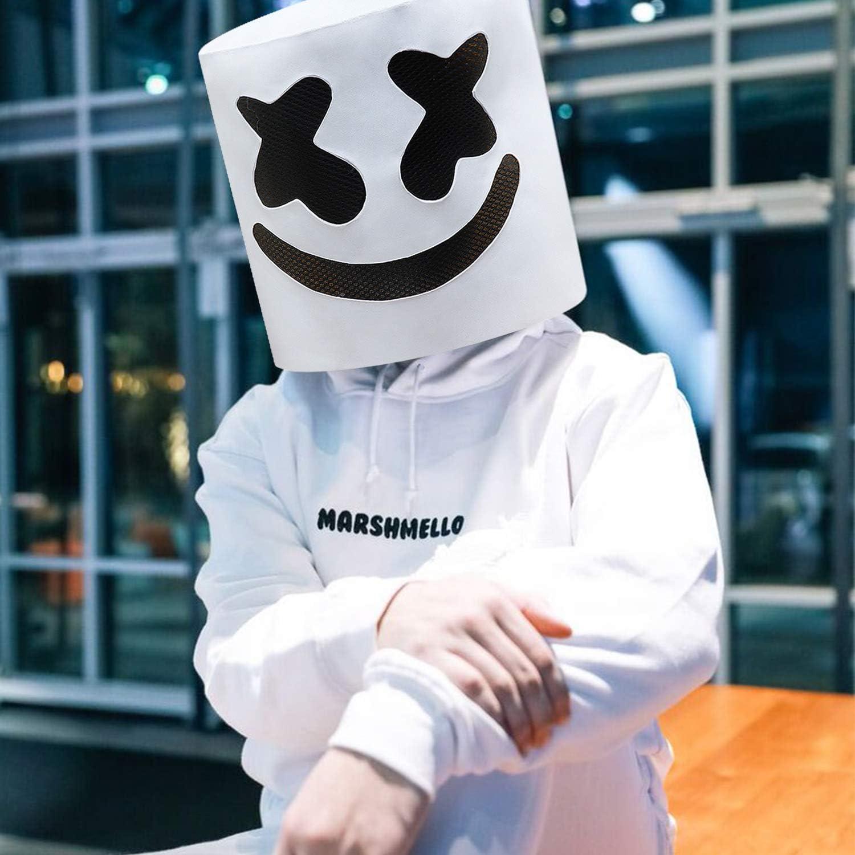 XIAO MO GU máscara de Marshmello para niños y Adultos, Disfraz de ...