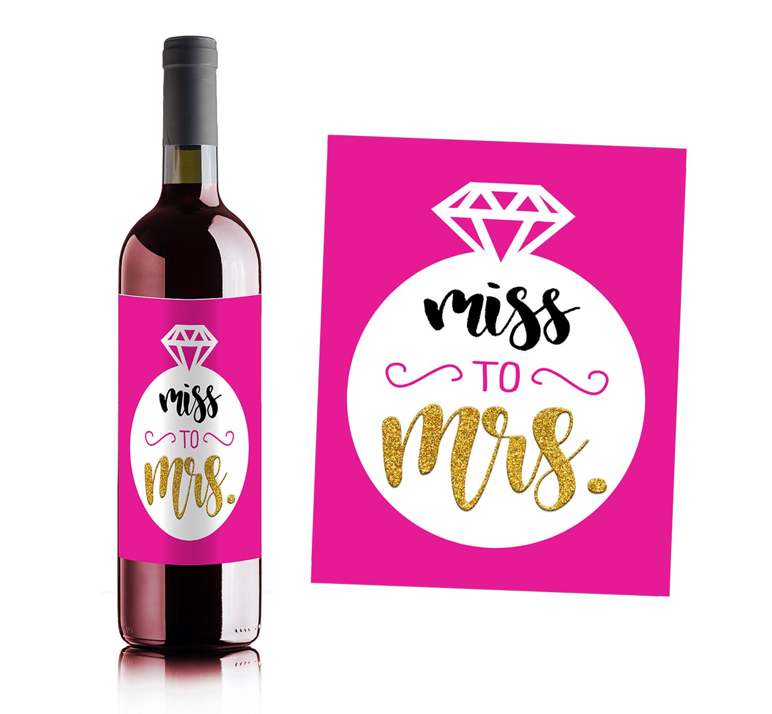 Girls Night out - Bachelorette Party Wine Bottle Labels (set of 4) by Sblabels (Image #7)