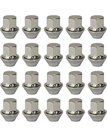 Precision Extended 45mm Chrome Locking Alloy Wheel Bolts for Ḟord Escort