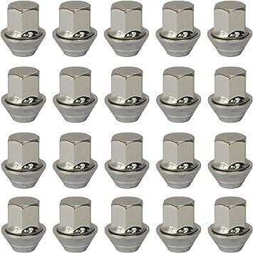 Set Mit 20 Radmuttern Für Leichtmetallräder M12 X 1 5 Kegel Mit Unterlegscheibe 19 Mm Sechskant Für Ford Leichtmetallräder Auto