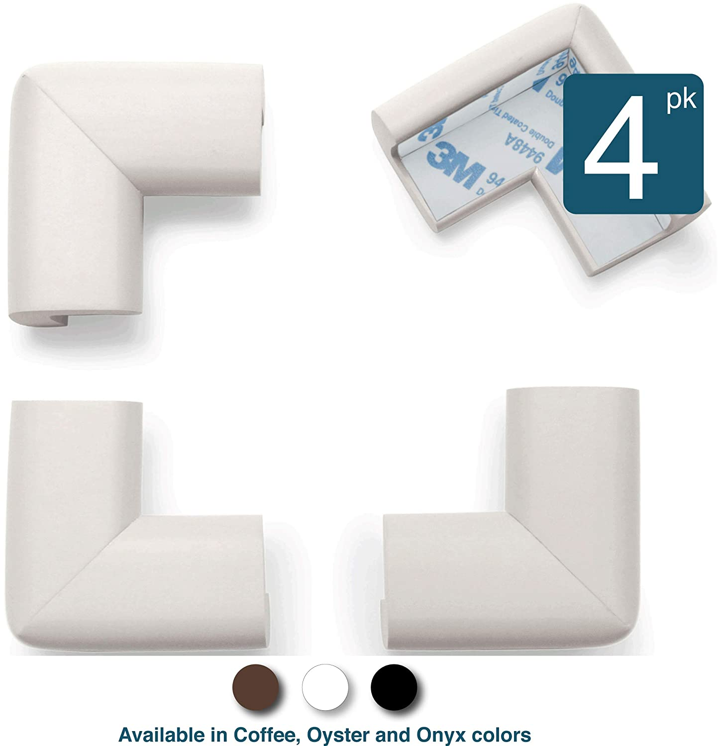 Foam Rubber Table Furniture Bumper Child Safety Safe Corner Cushion Roving Cove Soft Caring Baby Corners Baby Proofing Corner Guards Edge Protectors Brown 8-Piece Coffee Pre-Taped