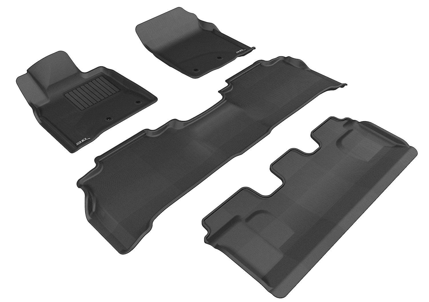 Gray 3D MAXpider Complete Set Custom Fit All-Weather Floor Mat for Select Toyota Land Cruiser Models L1TY15601501 Kagu Rubber