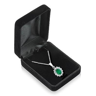 Amazoncom Black Velvet Pendant Box Jewelry Boxes Jewelry