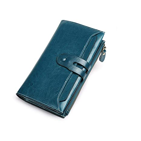 01df22ebdd Portafoglio Donna, Portafogli Donna Grande Pelle Portamonete RFID con  Portatessere, Porta Carte di Credito