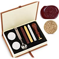 Wax Cire épilation Sceau à Kit absofine Vintage Adhesive avec ensemble de clé Cuillère Bougies Boîte Cadeau