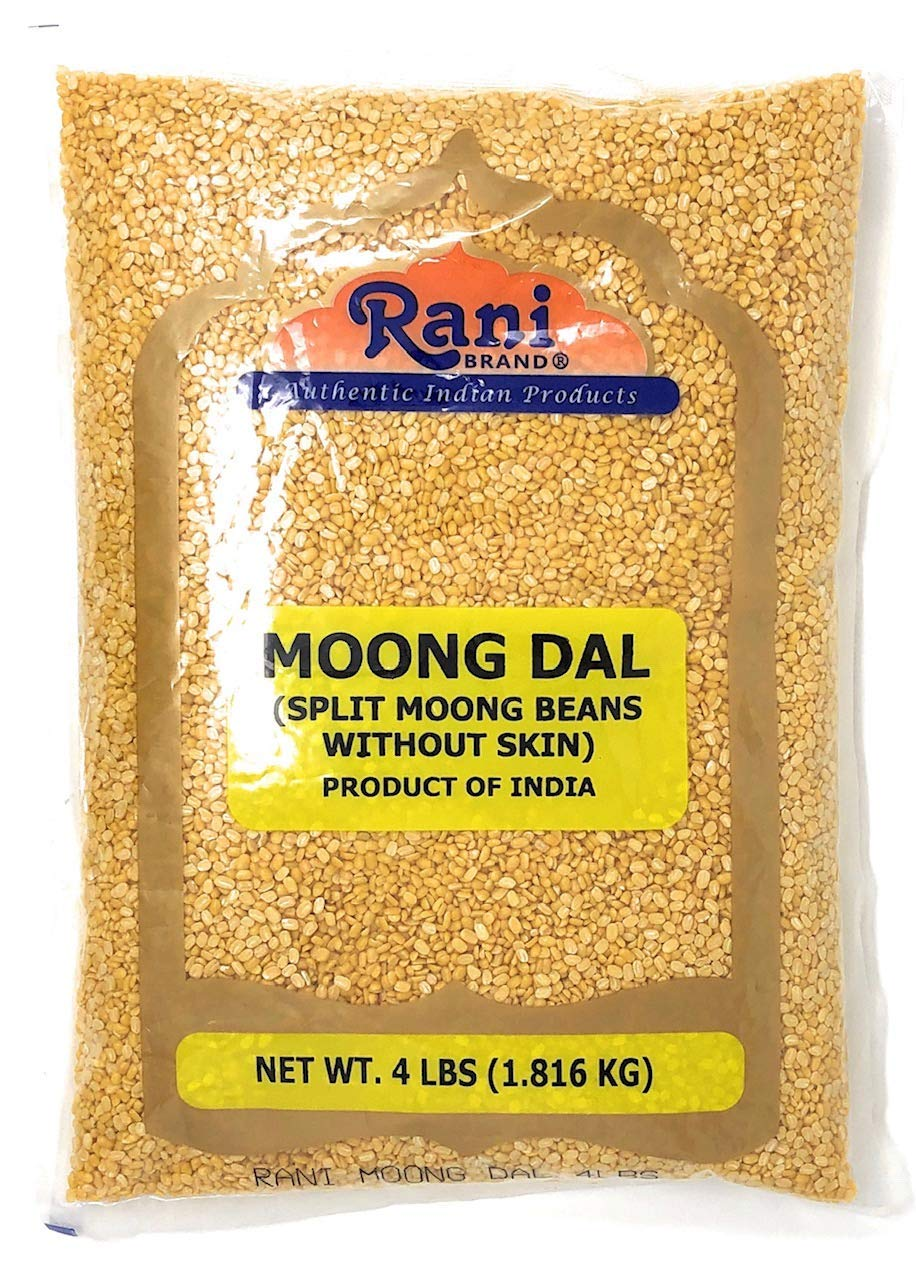 Rani Moong Dal (Split Mung Beans without skin) Lentils Indian 4lbs (64oz) ~ All Natural | Gluten Friendly | NON-GMO | Vegan