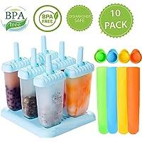 6 piezas de diseño cuadrado de helado Pop Moldes fabricante de moldes de paleta Frozen Yogurt