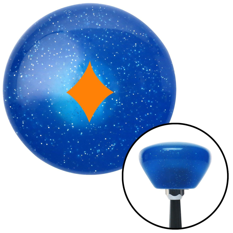 American Shifter 289252 Shift Knob Orange Diamonds Blue Retro Metal Flake with M16 x 1.5 Insert