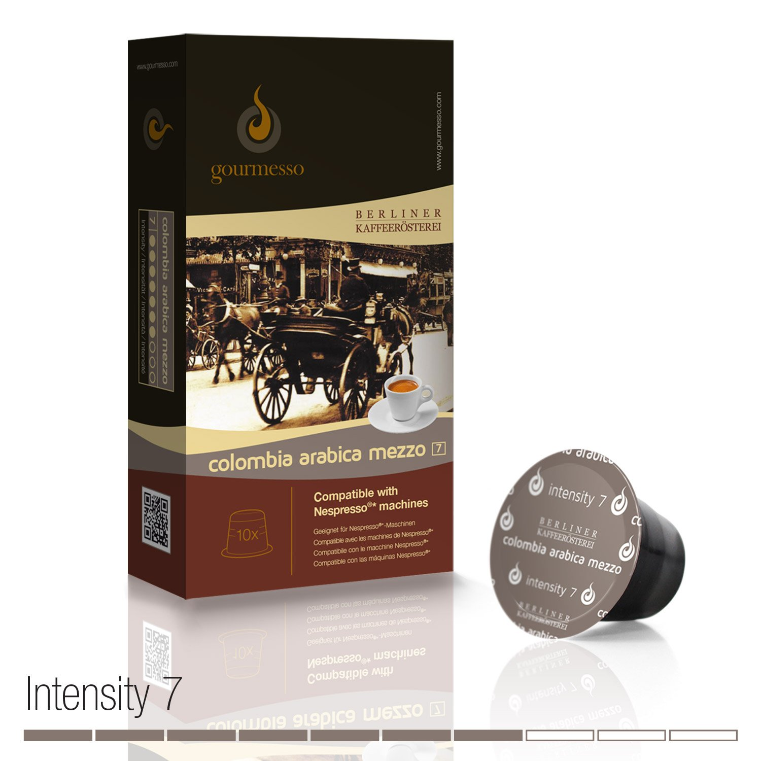 Amazon.com : Gourmesso Colombia Arabica Mezzo by Berlin Coffee Roasters - 30 Nespresso Compatible Coffee Capsules : Grocery & Gourmet Food