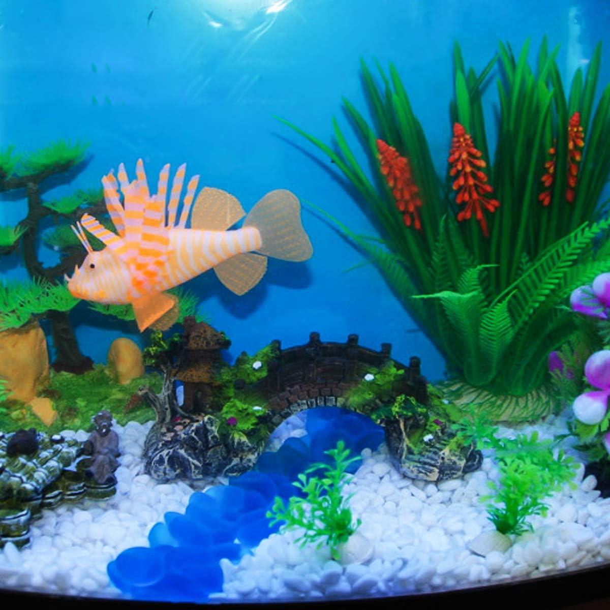 Yesbaby Aquarium Decoration Rockery Bridge Fake Rock Bridge DIY Fish Tank Ornament XL