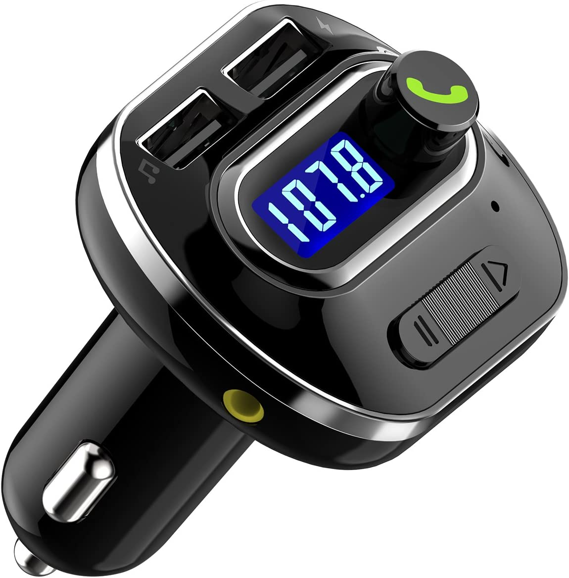 Coche MP3 Reproductor transmisor FM Bluetooth de Radio FM Bluetooth Manos Libres Kit de Coche inalámbrico Radio Adaptador de Audio 121AB