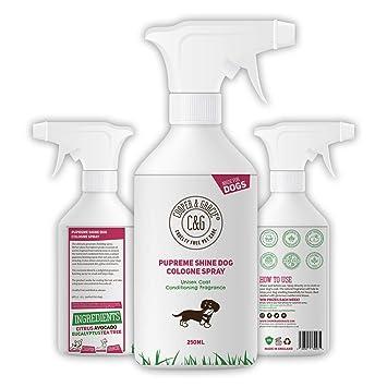 Perfume Pupreme Shine para perros, 250 ml, hojas de pelo de cachorro, súper
