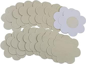 Flirtzy Disposable Waterproof Nipple Cover Pasties, Beige, NippleCovers, Breast Pasties Adhesive Bra Nippleless