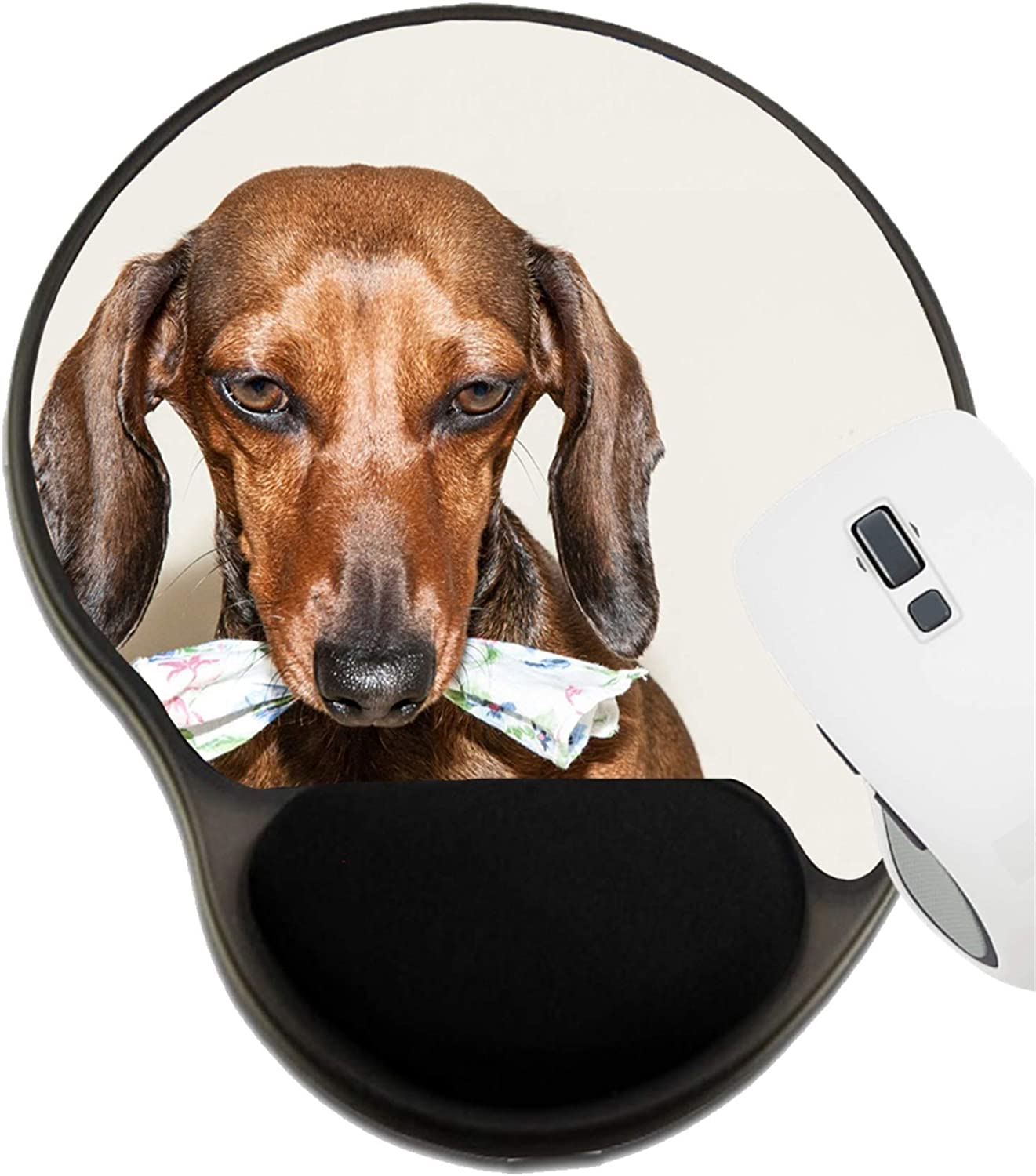 Image ID 10277686 Dachshund Mat with Wrist Support MSD Mousepad Wrist Rest Protected Mouse Pads