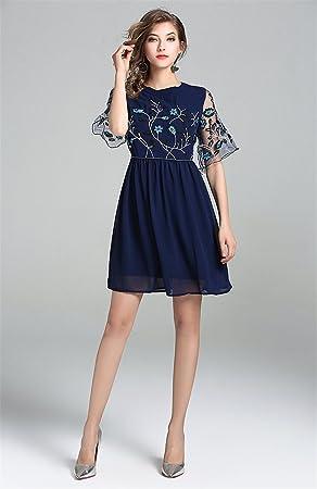LLS-Vestido de Fiesta Manga Larga/Vestido sin mangas de la vendimia para mujer