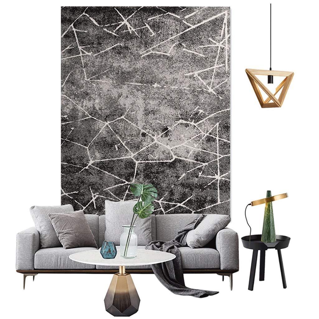 黒と白の灰色の近代的なミニマルソファコーヒーテーブルルームのベッドサイドブランケットの完全な北欧のリビングルームカーペットのベッドルーム (色 : マルチカラー まるちから゜, サイズ さいず : 200cm×280cm) 200cm×280cm マルチカラー まるちから゜ B07L5LVF76