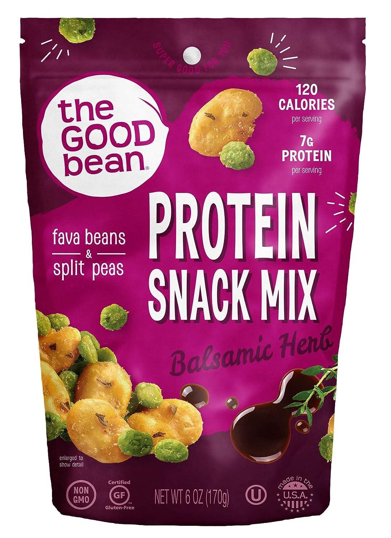 The Good Bean Crispy Favas Plus Peas, Balsamic Herb, 6 Ounce (Pack Of 6)