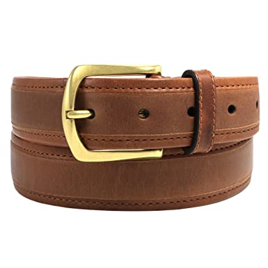 Dockers Men/'s 1 1//2 in Leather Bridle Belt Brown 34 Free Shipping