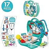 Condant Arztköfferchen, Doktorkoffer Kinder Arzt Zubehör Rollenspiele Spielzeug für Kinder ab 3 Jahren