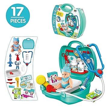 Condant Maletín de médico juguete kit Pretend & Play Estetoscopio Kit Médico Conjunto Mmédico, Juguetes