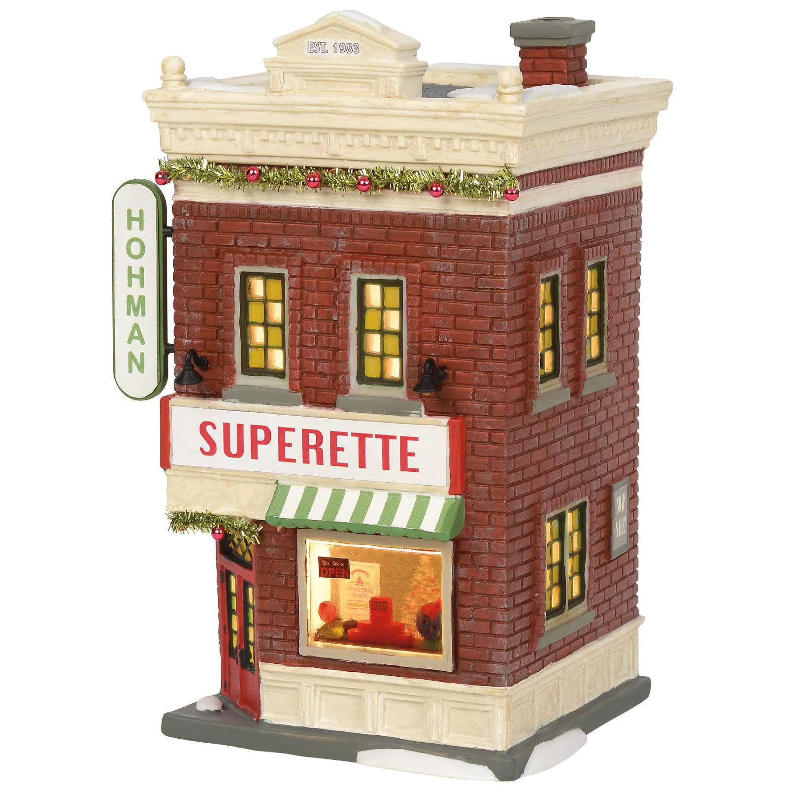 Department 56 A Christmas Story Village Hohman Superette Lit Building, 7.83 Inch, Multicolor by Department 56
