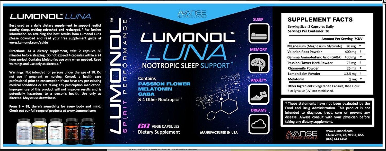 3 Bottle Lumonol + 3 Bottle Nova + 3 Bottle Luna (540ct) 3 Month Supply