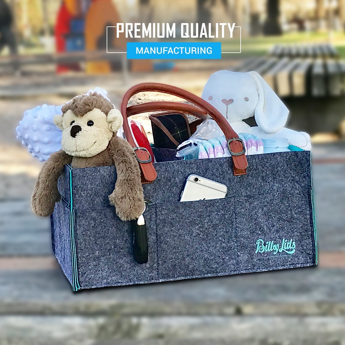 Baby Diaper Caddy Organizer and Stacker - Premium Quality - Baby Shower Gift Basket for Boy and Girl - Newborn Registry Must Haves - Nursery décor by Billy Lids (Image #2)