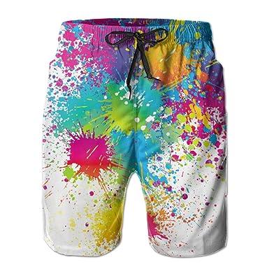 1f3a8bf596 XUWU Lion Tribe Drive Away The Summer Hot Men's Funny Beach Board Short  Casual Shorts | Amazon.com