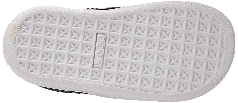 PUMA Unisex-Kids Basket Heart Patent Sneaker