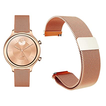 Amazon.com: Diruite for Ticwatch C2 Rose Gold Band Strap ...
