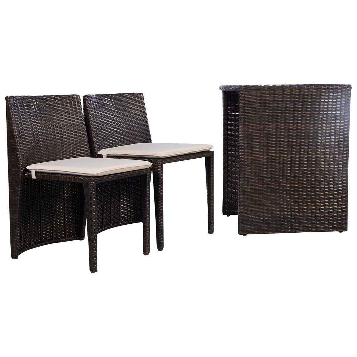 Good Amazon.com: Giantex 3 PCS Cushioned Outdoor Wicker Patio Set Garden Lawn  Sofa Furniture Seat Brown: Garden U0026 Outdoor