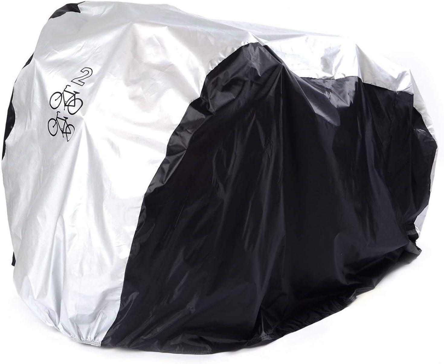 ANFTOP Funda para Bici Bicicleta Funda Protector de Polyester Cubierta Impermeable de Bicicleta para Dos/uno Bicicletas de 200 x 75 x 110 cm/190 x 72 x 110 cm