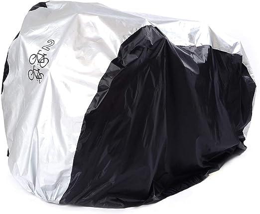 ANFTOP Funda para Bicicleta Funda Protector de Bici Polyester Cubierta Impermeable de Bicicleta para Dos Bicicletas de 200 x 75 x 110 cm: Amazon.es: Deportes y aire libre