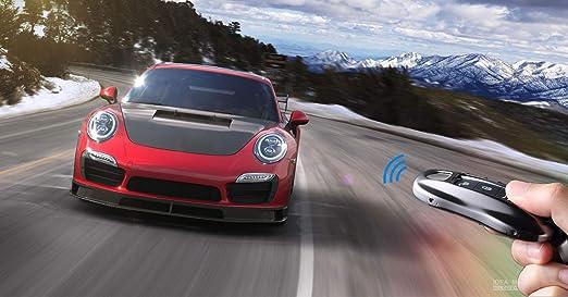 FancyAuto Cubierta de la Llave del Coche de aleación de Aluminio Caso Clave cáscara Hebilla de Cuero para Porsche 17 18 Panamera Macan 911 Accesorios del ...