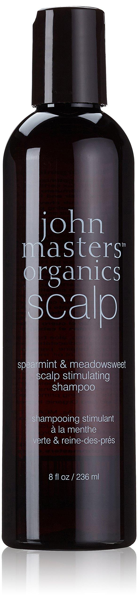 John Masters Organics Spearmint & Meadowsweet Scalp Stimulating Shampoo, 8 Ounce