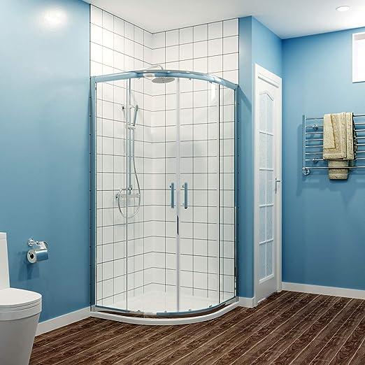 Quadrant Puerta corredera de cristal para ducha, 6 mm, 1000x1000 ...